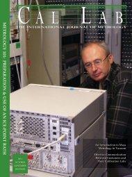 Magazine – PDF - Cal Lab Magazine