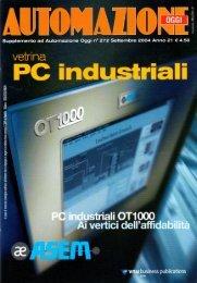 Supplemento Automazione Oggi Settembre 2004 - Vetrina PC industriali