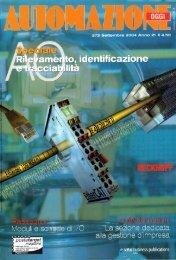 Rassegna Moduli e Schede di I/O  'Intellisystem Technologies' - Automazione Oggi n. 272 - Settembre 2004 - Anno 21