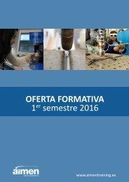 OFERTA FORMATIVA 1 semestre 2016