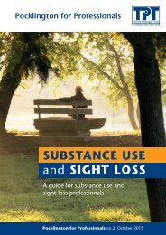 SUBSTANCE USE and SIGHT LOSS