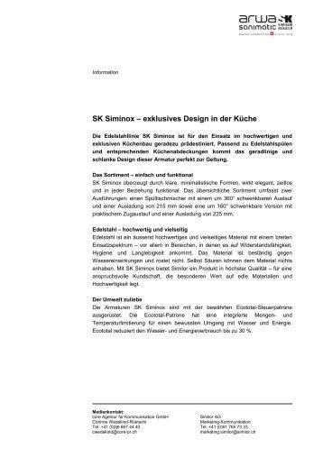 SK Siminox - exklusives Design in der Küche bei der Bringhen AG