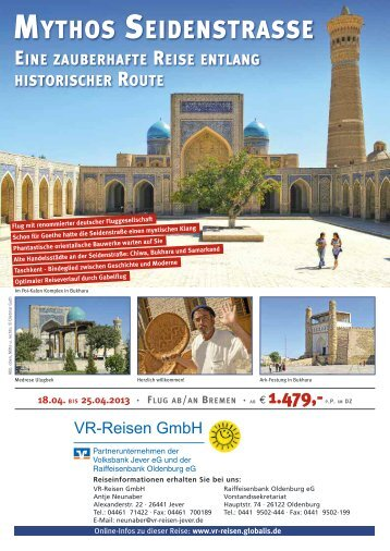 Bukhara - VR-Reisen GmbH