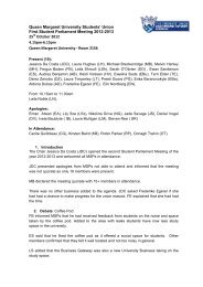 Download the Minutes - Queen Margaret University Students' Union