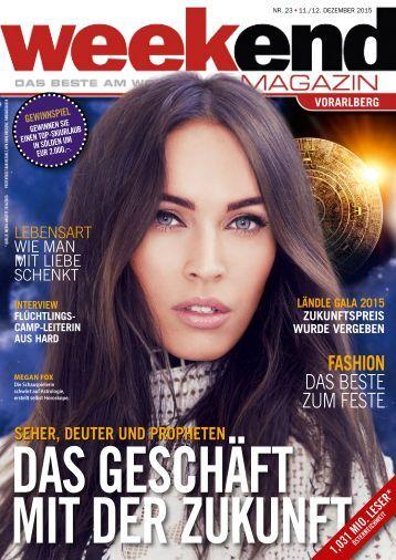 Weekend Magazin Vorarlberg 2015 Nr. 23