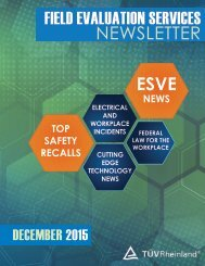 FIELD EVALUATION SERVICES NEWSLETTER ESVE