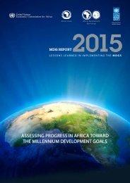 ASSESSING PROGRESS IN AFRICA TOWARD THE MILLENNIUM DEVELOPMENT GOALS