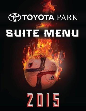 2015 Toyota Park Suite Menu