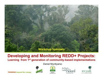 Developing and Monitoring REDD+ Projects: Developing and - GCF