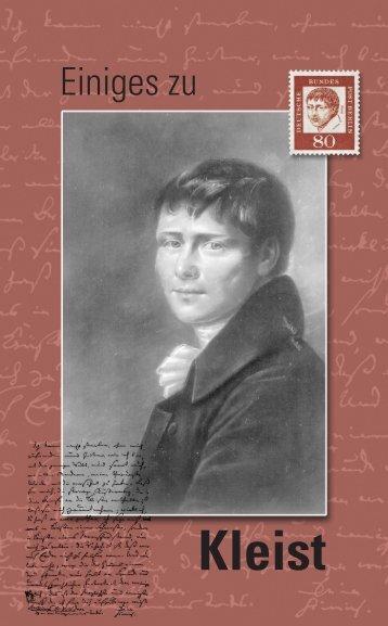 Einige Gedanken zu Heinrich von Kleist - TUNKAN
