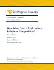 Was Adam Smith Right About Religious Competition?