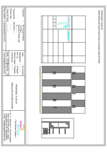 2D M.B.R Ward Robe & Dressing Tabel Plan