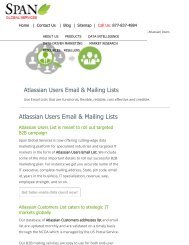 Buy Customized Atlassina Technology using Companies from Span Global Services