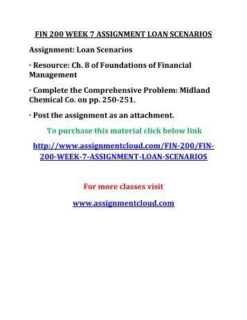 Assignment loan
