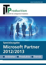 Microsoft Partner 2012/2013 - IT & Produktion