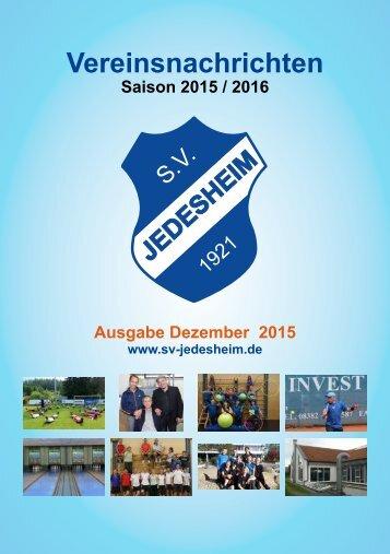 Vereinsnachrichten Dezember 2015