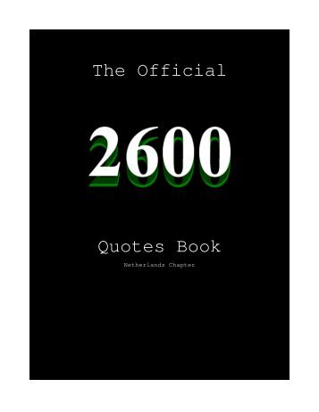 The Official Quotes Book