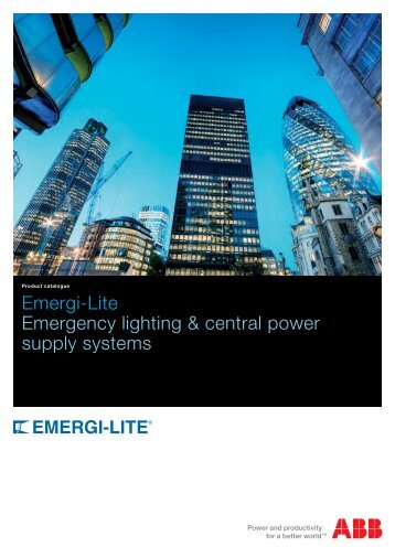 Emergi-Lite Emergency lighting & central power supply systems