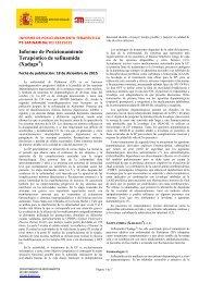 Informe de Posicionamiento Terapéutico de safinamida (Xadago )