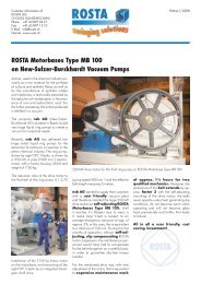 ROSTA Motorbases Type MB 100 on New-Sulzer ... - ROSTA Inc.
