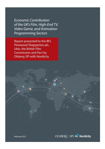 of the UK's Film High-End TV Video Game and Animation Programming Sectors