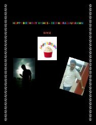 Deepak Raghuraman - Birthday  Wish