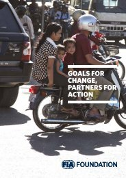 GOALS FOR CHANGE PARTNERS FOR ACTION