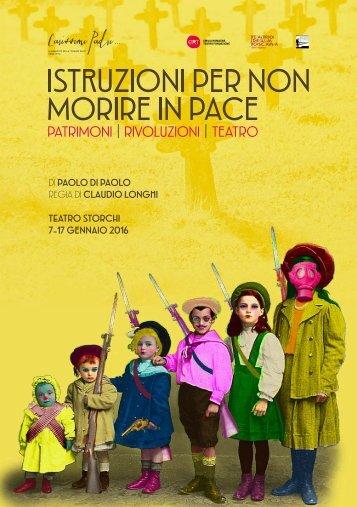 DI PAOLO DI PAOLO REGIA DI CLAUDIO LONGHI TEATRO STORCHI 7-17 GENNAIO 2016