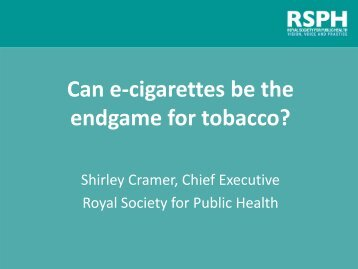 Can e-cigarettes be the endgame for tobacco?