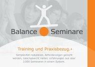 Balance-Seminare - Neues System für Führung - Verkauf-Vertrieb