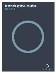 Technology IPO Insights Q3 2015