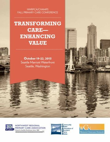 2013 Fall Primary Care Conference Program