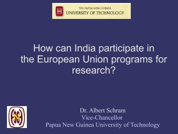 How can India participate in the European Union programs for research?