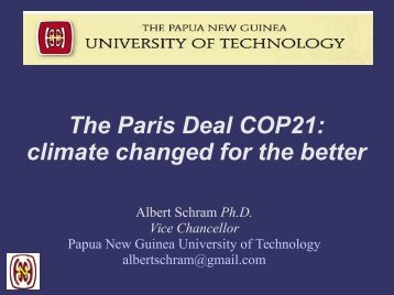 The Paris Deal COP21 climate changed for the better