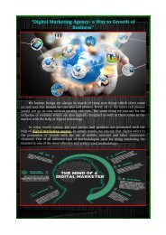 Digital marketing agency- a way to growth of business""