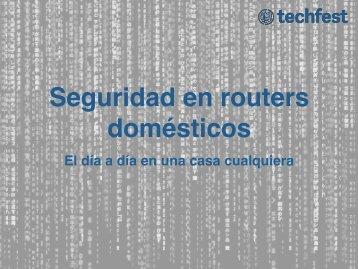 Seguridad en routers domésticos