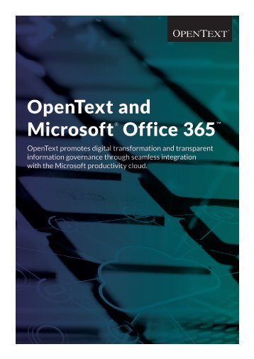 OpenText and Microsoft Office 365