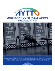 (NULL) American Youth Table Tennis Organization