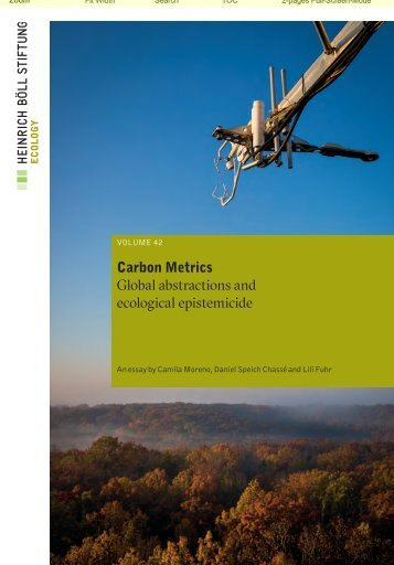 Carbon Metrics Global abstractions and ecological epistemicide