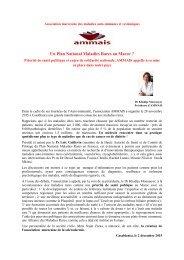Un Plan National Maladies Rares au Maroc