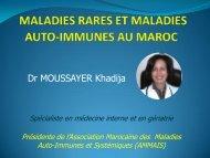 Les maladies rares au Maroc Dr MOUSSAYER  28 nov   2015