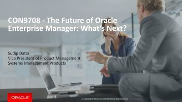 Enterprise Manager What's Next?