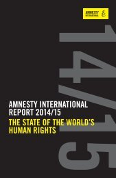 AMNESTY INTERNATIONAL REPORT 2014/15 THE STATE OF THE WORLD'S HUMAN RIGHTS