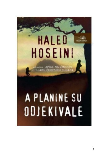Haled Hoseini-A planine su odjekivale
