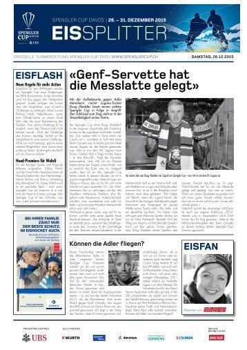 Spengler Cup Gazette EISSPLITTER 26.12.15