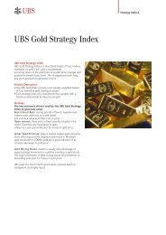 Foreign Exchange and Money Market     - UBS - Investment Bank
