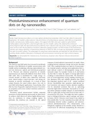 Photoluminescence enhancement of quantum dots on Ag ...