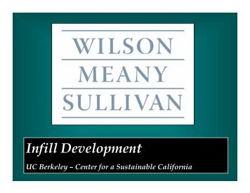 Infill Development - Institute of Urban and Regional Development