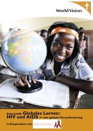 Arbeitshilfe Globales Lernen: - World Vision Institut