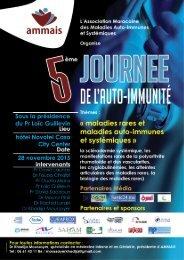 LES MALADIES RARES Résumés_de la 5ème Journée de l'auto-immunité AMMAIS 28 novembre 2015 Casablanca
